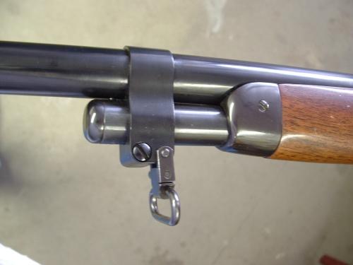 Custom Barrel Band, helps hold the Model 71 together.