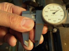 Measure the bore to work with the reamer.